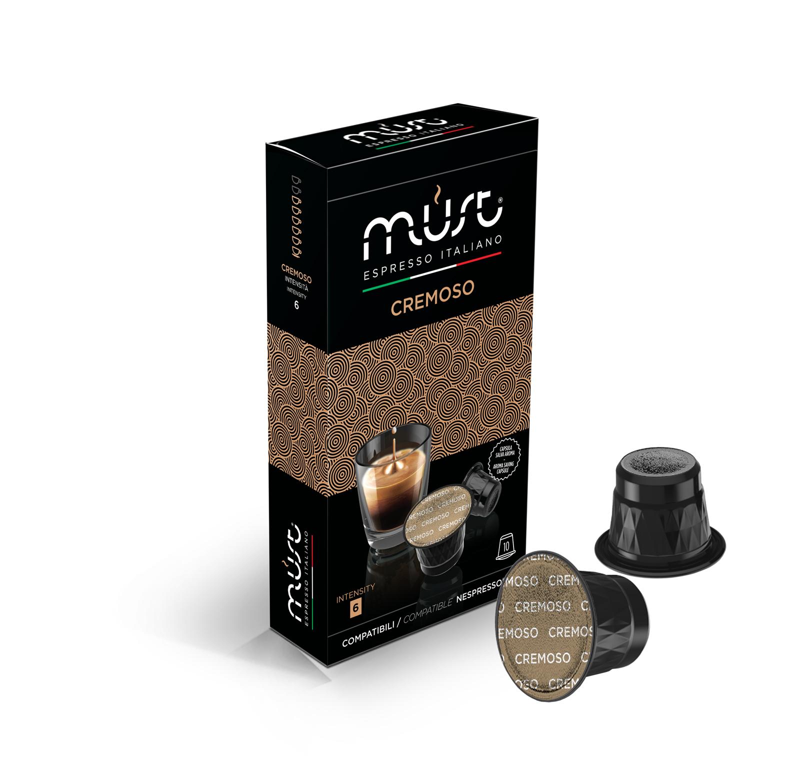 Cremoso must espresso capsule compatibili nespresso for Nespresso firma