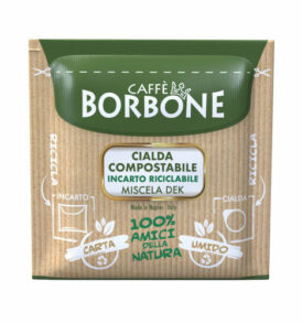 caffe borbone dek deca cialde caffe carta verde