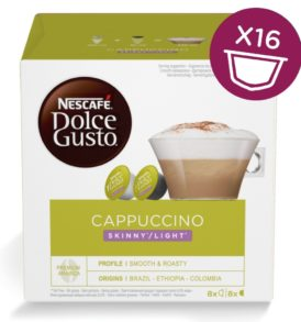 capsule dolce gusto cappuccino skinny light