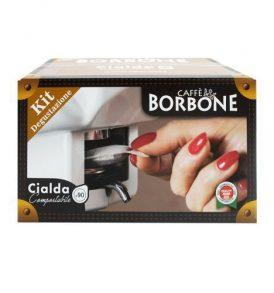 caffe borbone kit degustazione cialde di carta ese blu nero rosso oro deca