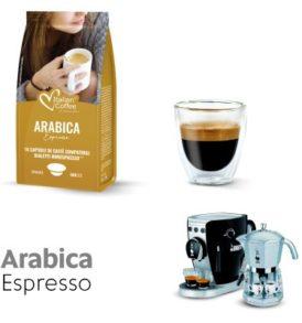 capsule cialde caffe bialetti arabica